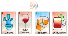 alta baja market business cards