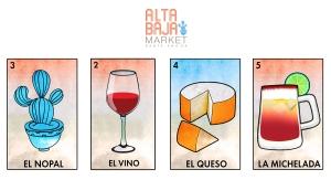 alta baja market business cards
