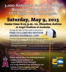 Social media flyer for UCI Night at Angels Stadium
