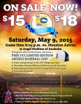 Outdoor flyer for UCI Night at Angel Stadium