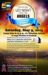 Poster for UCI Night at Angel Stadium